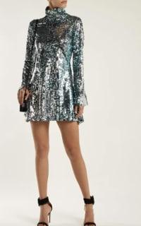 Halpern Metallic sequined mini dress 3 Preview Images