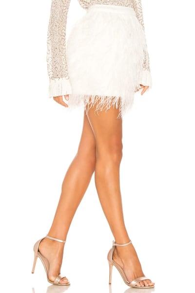 Aje Wattle Feather Mini Skirt 2