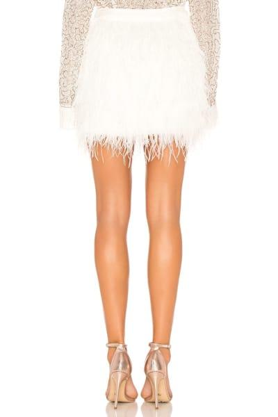 Aje Wattle Feather Mini Skirt 3