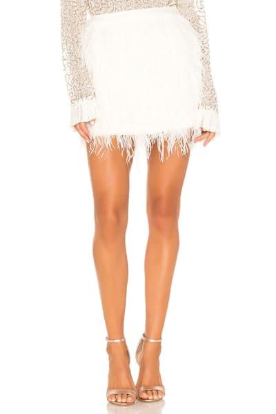 Aje Wattle Feather Mini Skirt 4