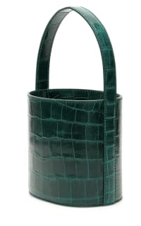 Staud Bissett croc-effect leather Preview Images