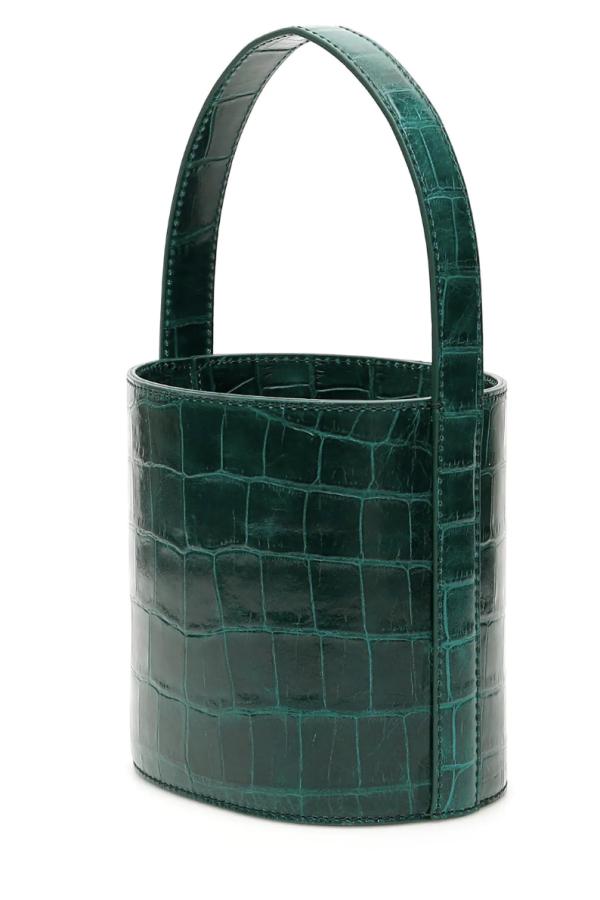 Staud Bissett croc-effect leather