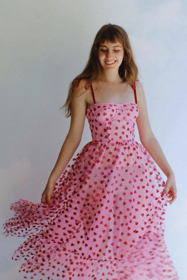 Image 4 of Lirika Matoshi hearty corset midi dress