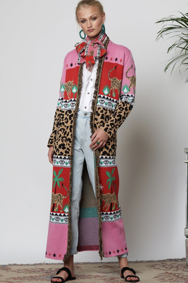 Hayley Menzies Leopardess Cotton Duster 4