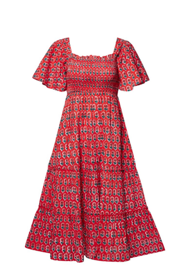 Image 1 of Pink City Prints scarlet lolita mid dress