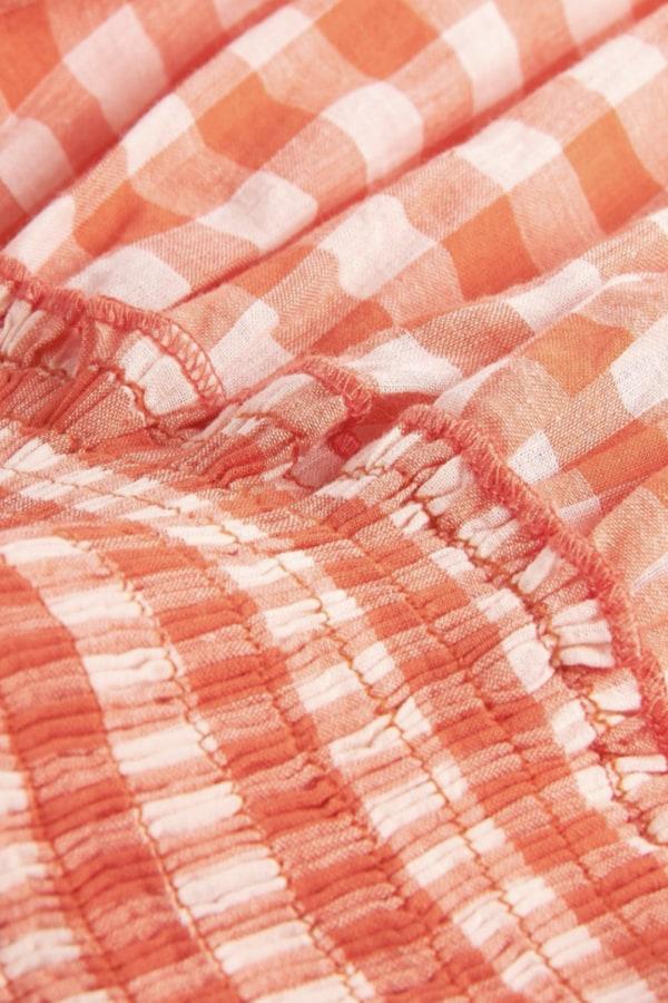 Image 4 of Pink City Prints gingham rah rah dress
