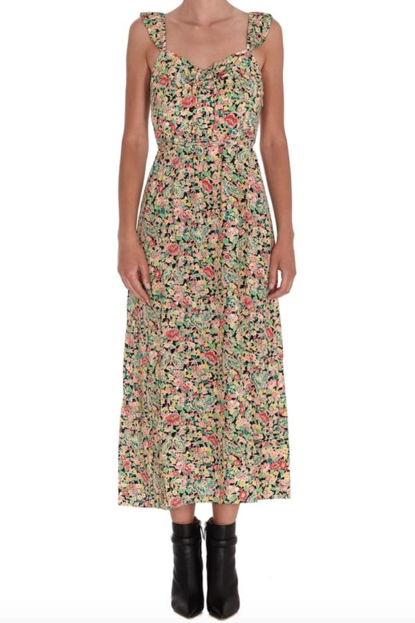 Image 2 of Rixo floral print midi dress