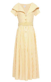 Gül Hürgel Striped cotton and linen-blend Preview Images