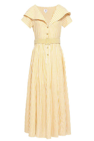 Gül Hürgel Striped cotton and linen-blend