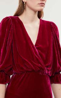Ghost Gracie V Neck Velvet Dress 3 Preview Images