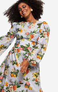 """LOUD BODIES """"Rosalind"""" floraL Linen Dress 7 Preview Images"""