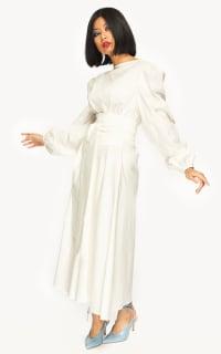 "LOUD BODIES ""Rosalind"" White Linen DRESS 6 Preview Images"