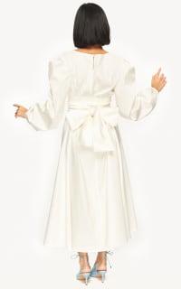 "LOUD BODIES ""Rosalind"" White Linen DRESS 2 Preview Images"