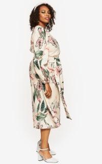 """LOUD BODIES """"Rosalind"""" Beige Linen Dress 3 Preview Images"""