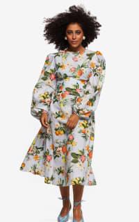 """LOUD BODIES """"Rosalind"""" floraL Linen Dress 5 Preview Images"""