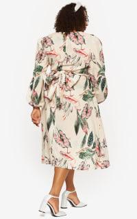 """LOUD BODIES """"Rosalind"""" Beige Linen Dress 5 Preview Images"""