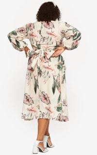 """LOUD BODIES """"Rosalind"""" Beige Linen Dress 4 Preview Images"""