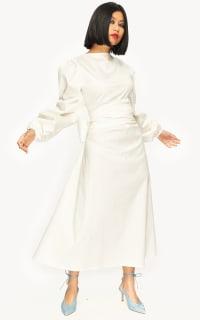 "LOUD BODIES ""Rosalind"" White Linen DRESS 4 Preview Images"