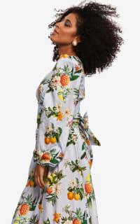 """LOUD BODIES """"Rosalind"""" floraL Linen Dress 3 Preview Images"""