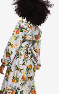 """LOUD BODIES """"Rosalind"""" floraL Linen Dress 4 Preview Images"""
