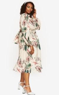 """LOUD BODIES """"Rosalind"""" Beige Linen Dress 6 Preview Images"""
