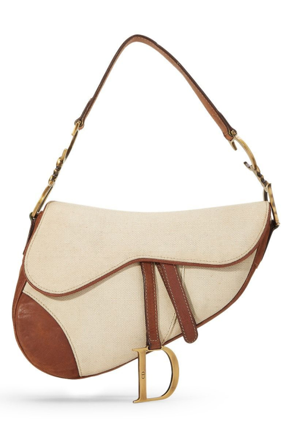 Christian Dior Canvas Saddle Bag  2