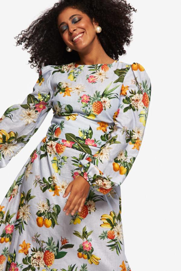 """LOUD BODIES """"Rosalind"""" floraL Linen Dress 7"""