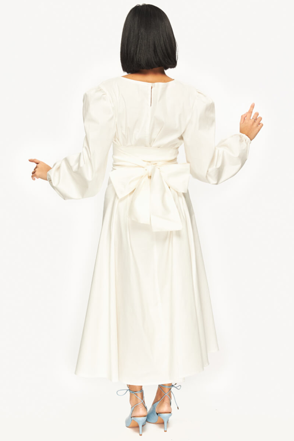 "LOUD BODIES ""Rosalind"" White Linen DRESS 2"