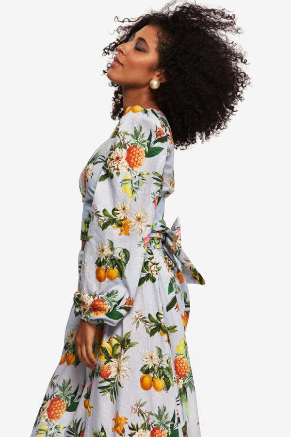 """LOUD BODIES """"Rosalind"""" floraL Linen Dress 3"""