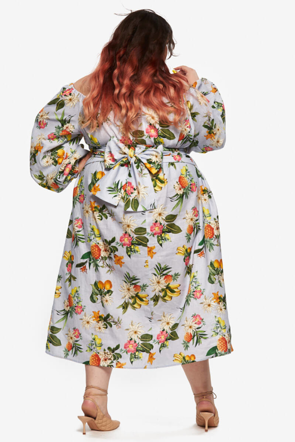 "LOUD BODIES Florence"" Floral Linen Dress 7"