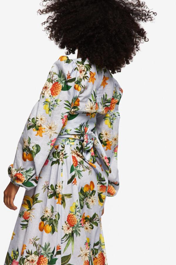 """LOUD BODIES """"Rosalind"""" floraL Linen Dress 4"""