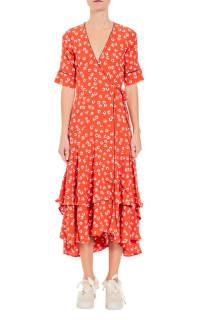 Ganni Floral-Print wrap maxi dress 5 Preview Images