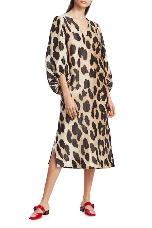 Ganni Leopard Puff Sleeve  3
