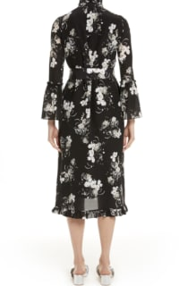 Erdem Ruffle midi dress belted 3 Preview Images