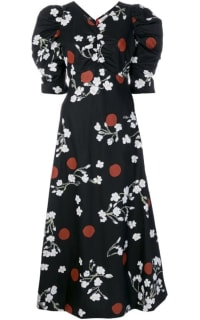 ISA ARFEN Midi puff Sleeve Dress Preview Images
