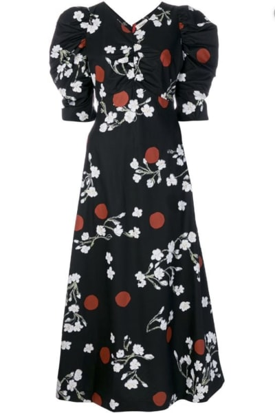 ISA ARFEN Midi puff Sleeve Dress
