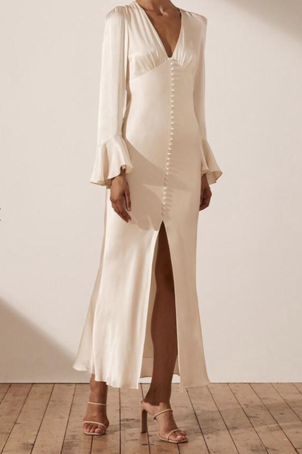 Image 4 of Shona Joy la lune frill cuff midi dress