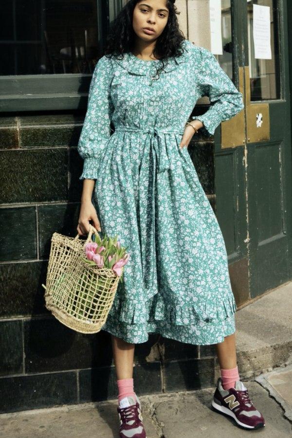 Image 3 of Pink City Prints mint roshana dress
