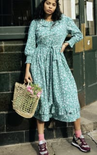 Pink City Prints Mint Roshana Dress 3 Preview Images