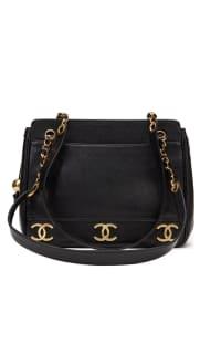 Chanel  Triple Logo Caviar Handbag  Preview Images