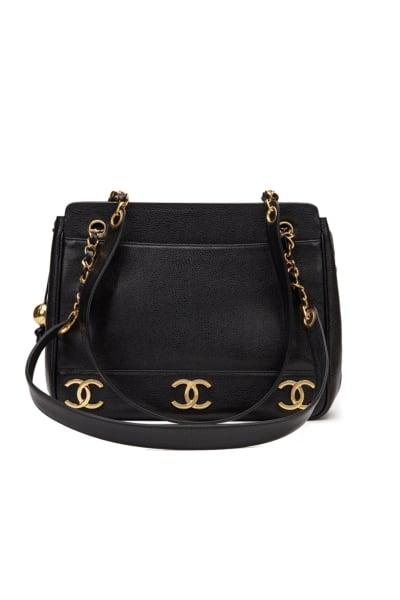 Chanel  Triple Logo Caviar Handbag