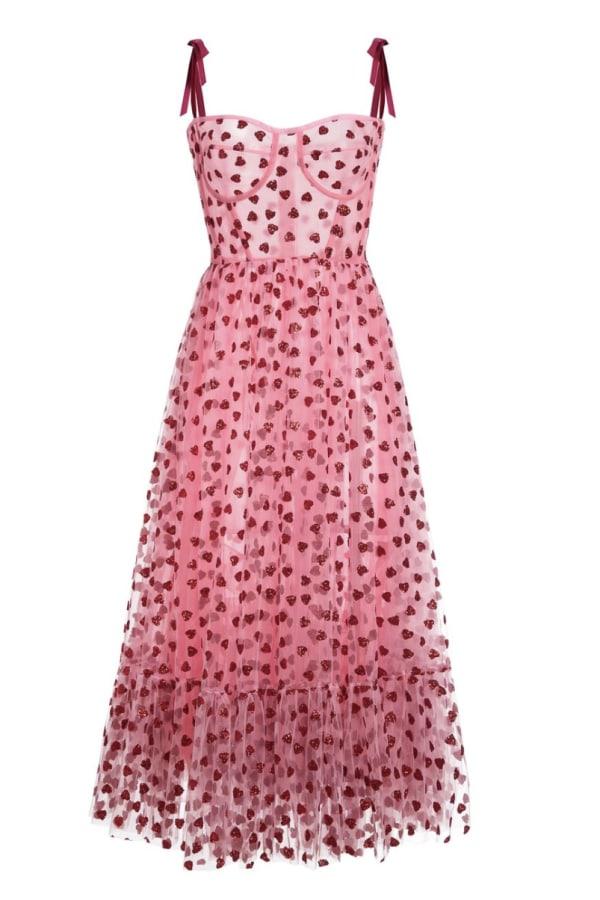 Image 1 of Lirika Matoshi hearty corset midi dress