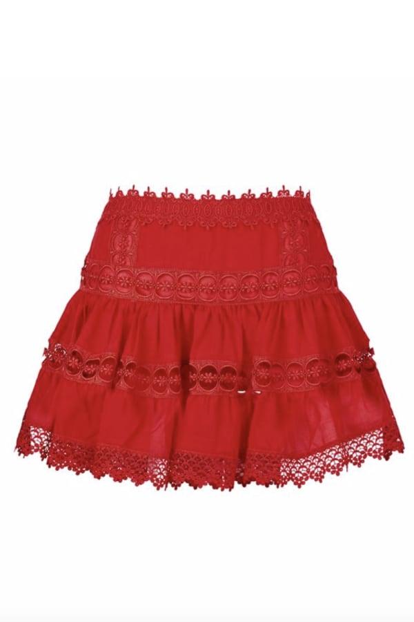 Image 3 of Charo Ruiz Ibiza greta tiered guipure lace skirt