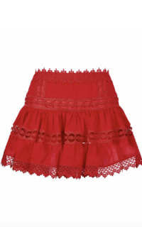 Charo Ruiz Ibiza  Greta Tiered Guipure Lace Skirt  3 Preview Images
