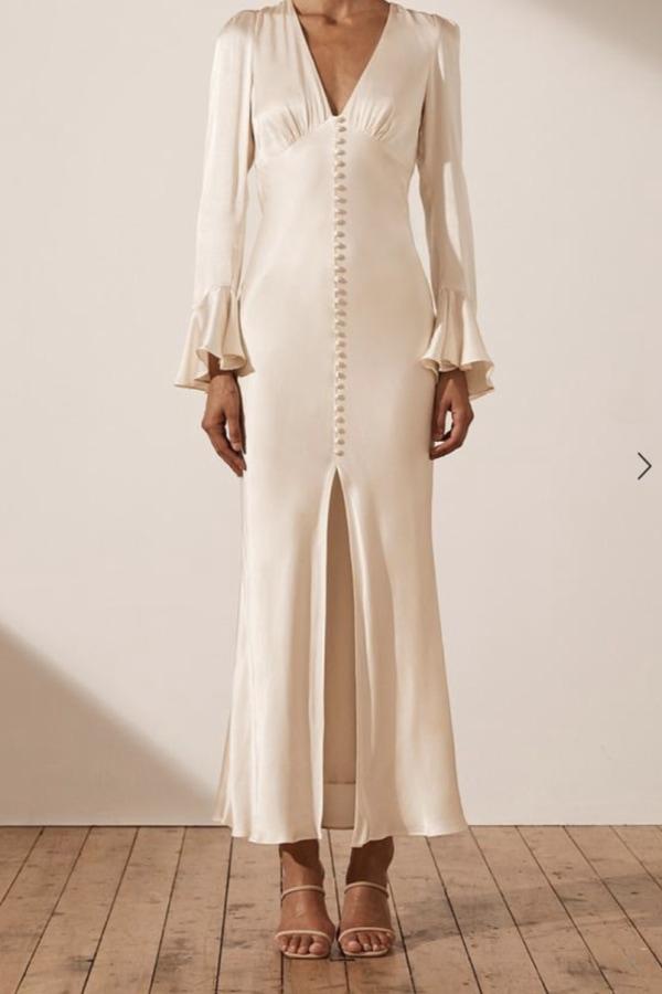 Image 2 of Shona Joy la lune frill cuff midi dress