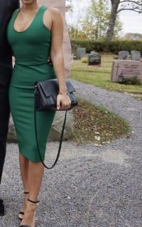 Victoria Beckham V-Back Ponte Sheath Dress 3 Preview Images