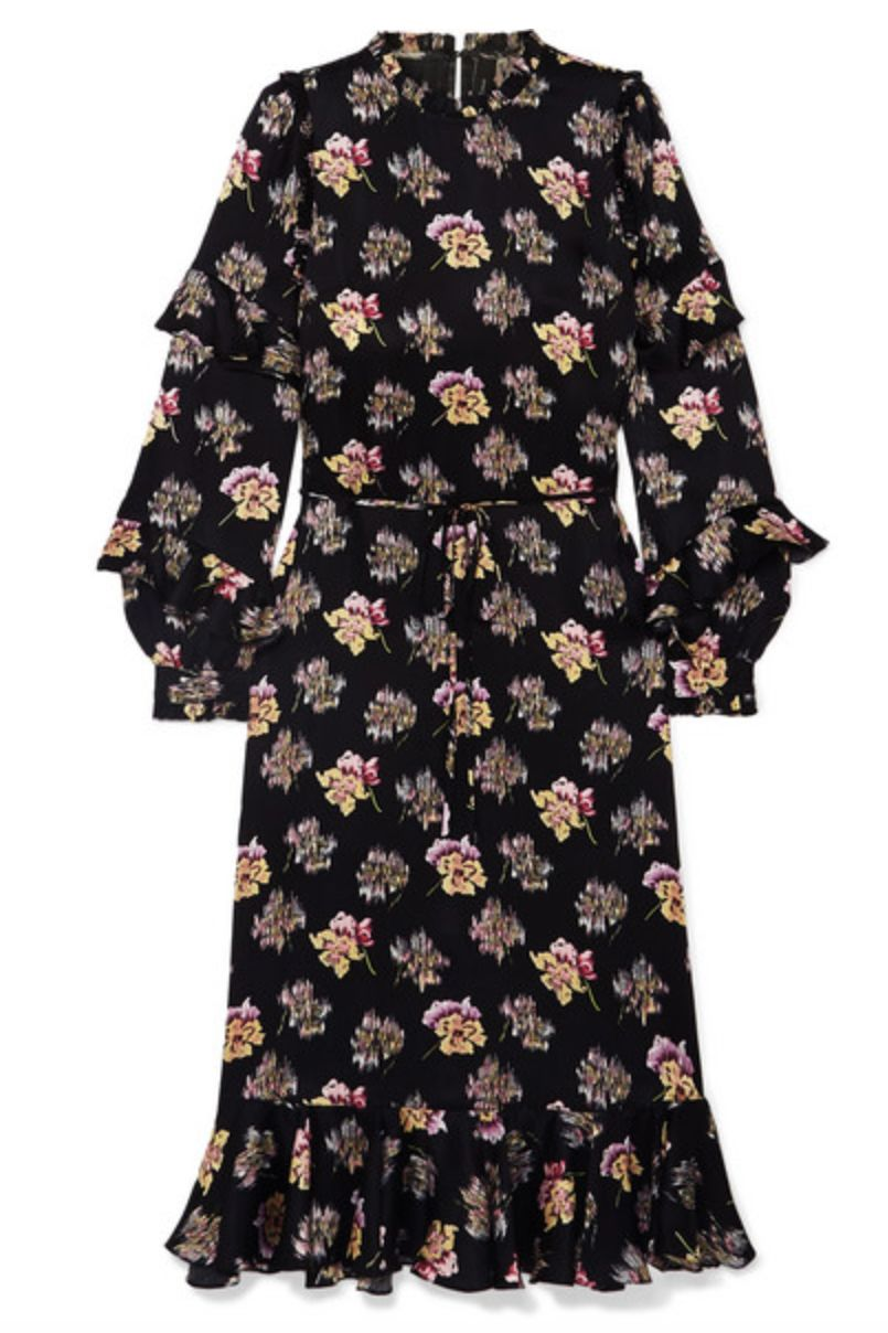 NEEDLE & THREAD - BESSIE RUFFLED FLORAL-PRINT