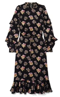 Needle & Thread Bessie ruffled floral-print Preview Images