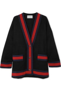 Gucci Grosgrain-trimmed cotton-blend tweed cardigan Preview Images