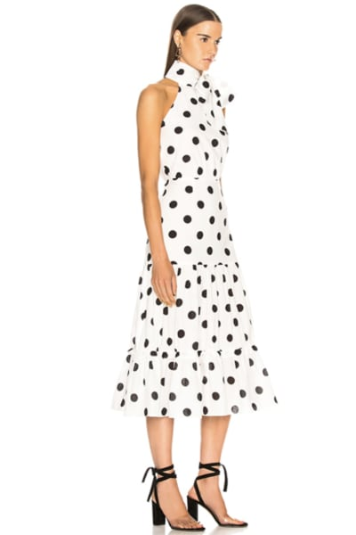 RIXO London Polka Dot Midi Dress 2
